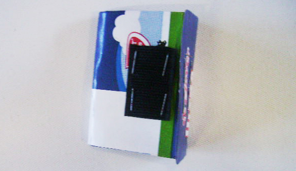 wallet made from recycled milk carton