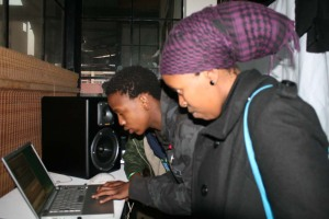 Thabang sharing his knowledge...